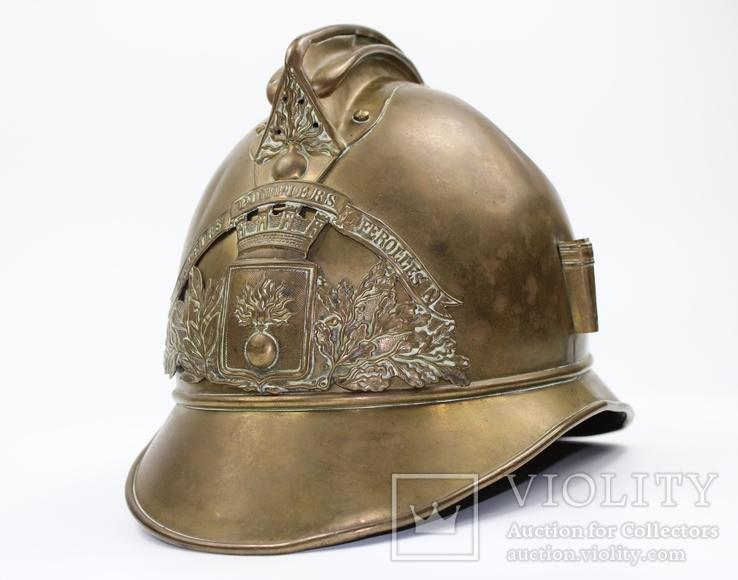 Шлем офицера сапёрно-пожарного батальона. Франция, XIX век