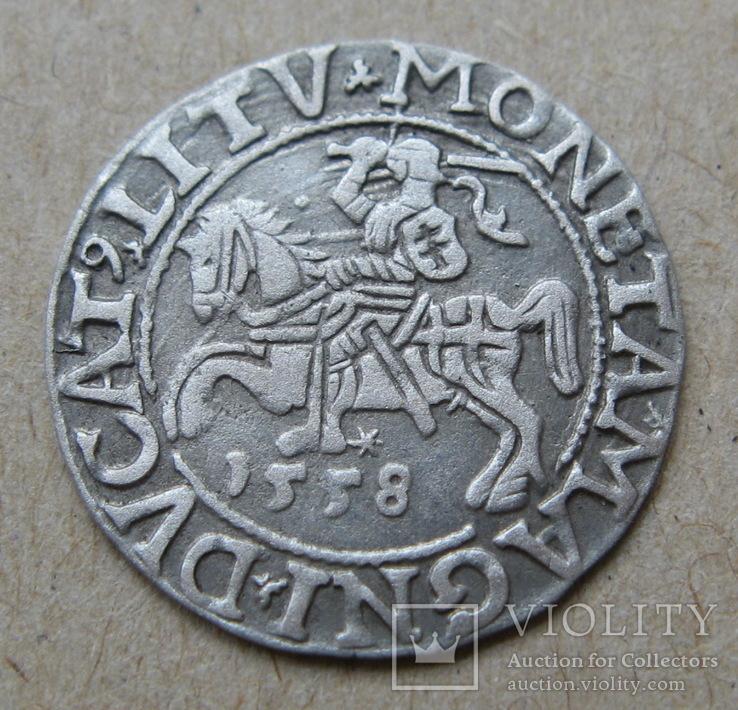 Литовский полугрош 1558 года. Сигизмунд Август.