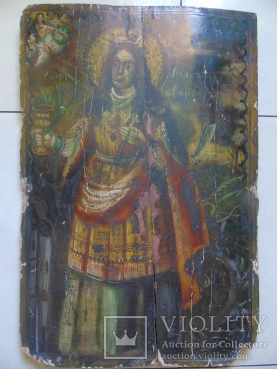 Варвара. Большая церковная икона, фото №2