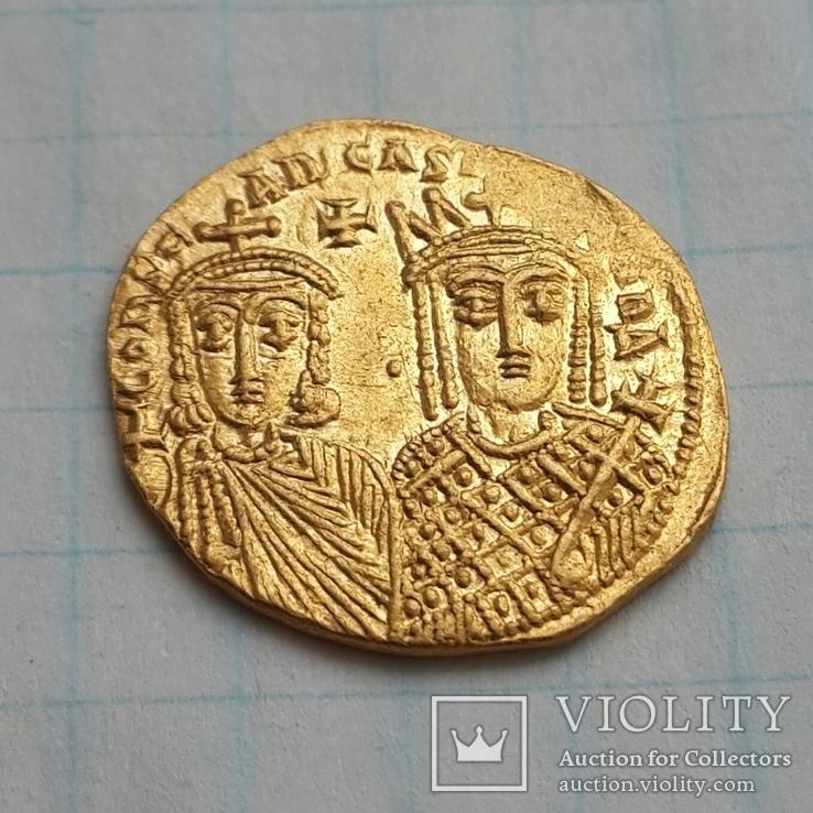 Константин VI и Ирина, Византия 790-792 г.г. Реверс  Лев III, Константин V и Лев IV