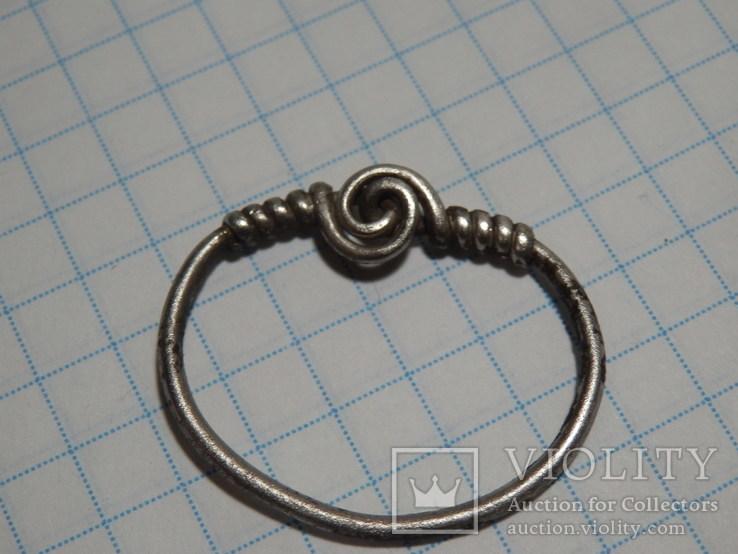 Височное кольцо ЧК, крупное, серебро