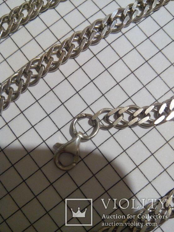 Серебряная цепочка, длина 42.5 см., фото №4