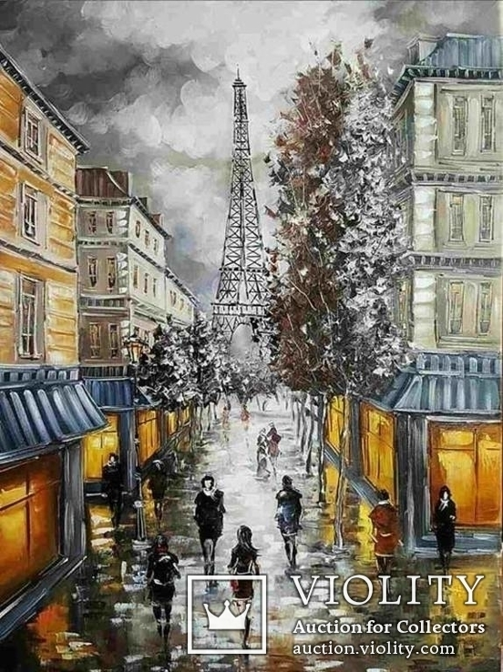 Париж. 50х70 см