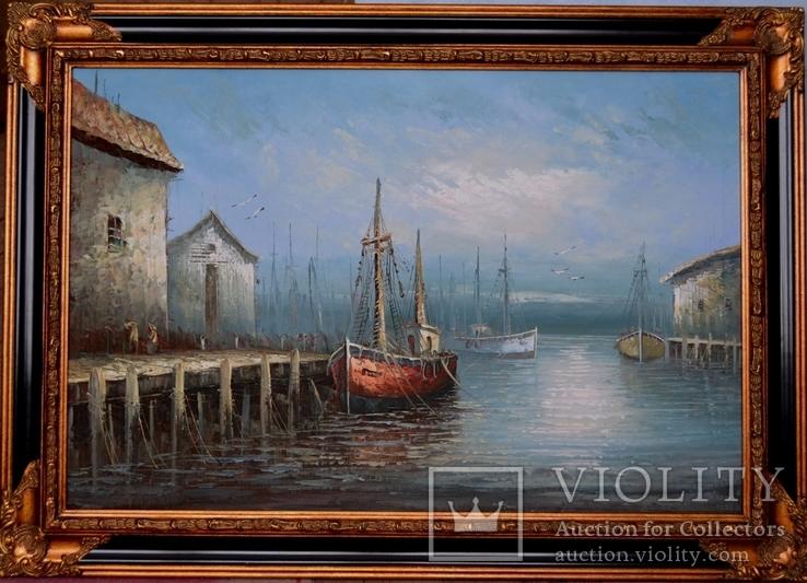 Старая Шикарная картина . 1932 год Бельгия.