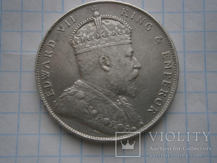 1 долар 1907 Стреітс Сеттлмент Едвартд 7