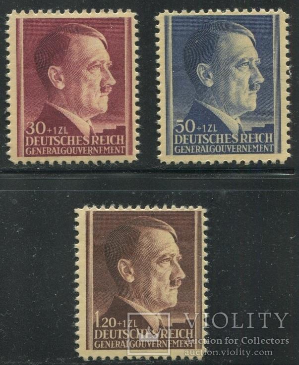 1942 Рейх генералгубернаторство 53 года Гитлеру полная серия MNH **