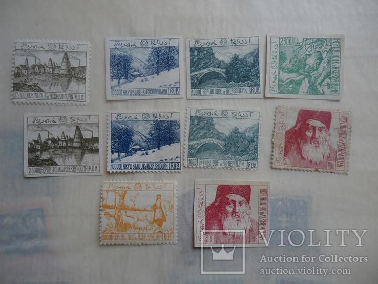 Азербайджан  10  марок гражданская война 1919-21 гг