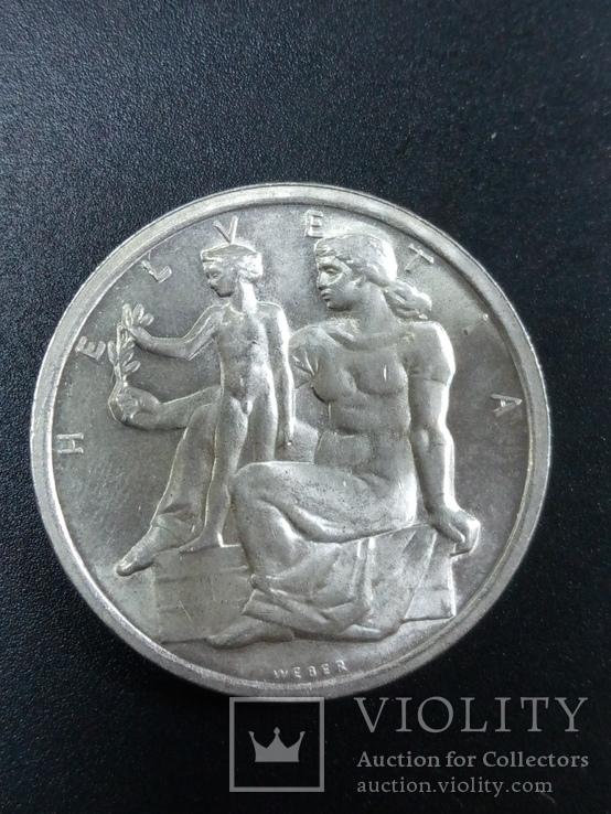 Швецария 5 франков 1948 года