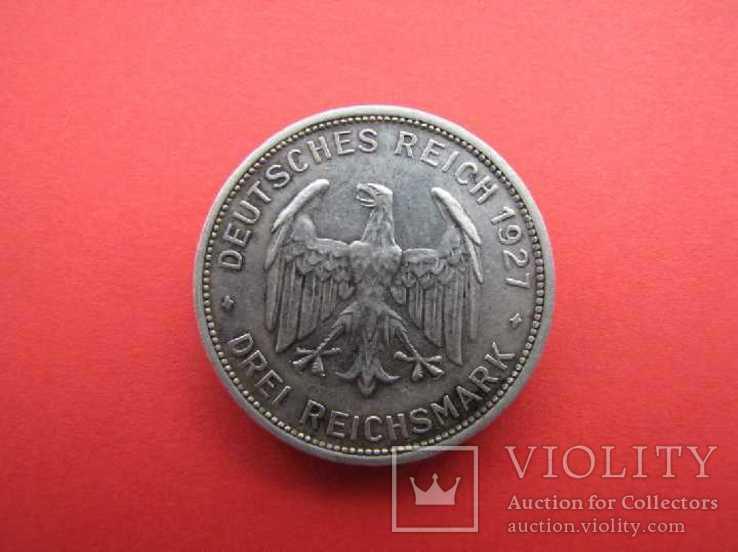 3 марки 1927 Тюбинген, фото №5