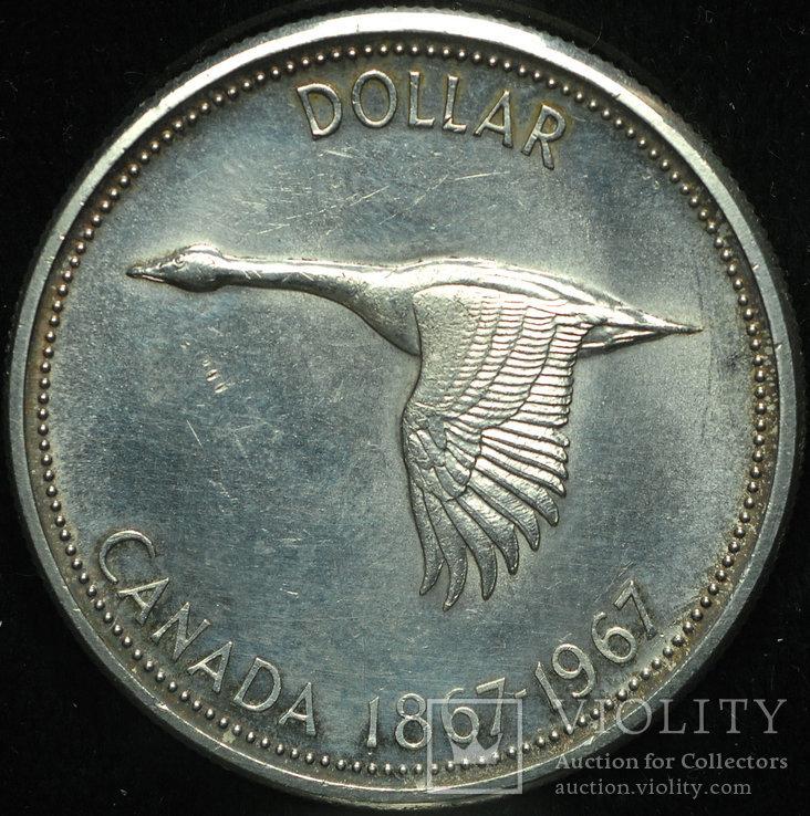 Канада доллар 1967 аUnc серебро
