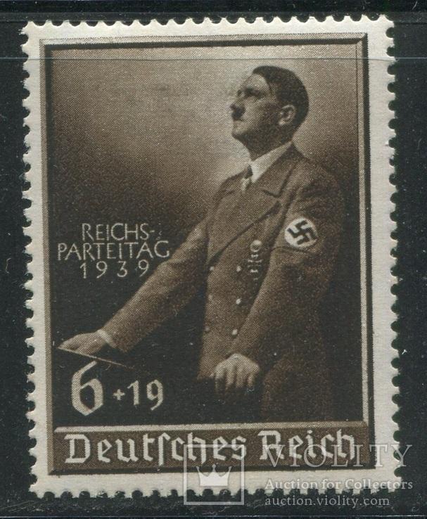 1939 Рейх  Гитлер за трибуной с надпечаткой полная серия
