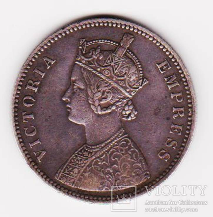 Индия. Алвар штат. Рупия ю. 1882г.
