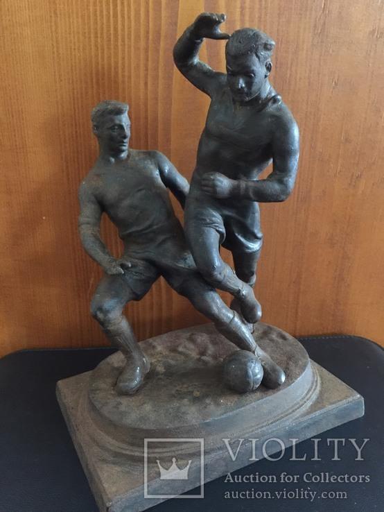 Футболисты.  Касли чугун 1960г