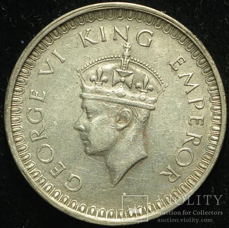 Британская Индия рупия 1942 aUnc серебро