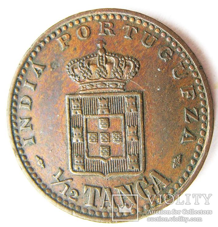 Португальская Индия 1/12 танга. 1903 г