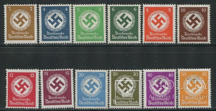 1934-38 Рейх свастика полная серия с ВЗ + заверки