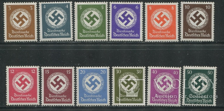 1942-44 Рейх свастика полная серия без ВЗ