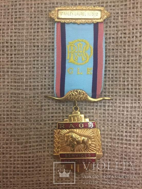 Масонская медаль, знак масон №10312
