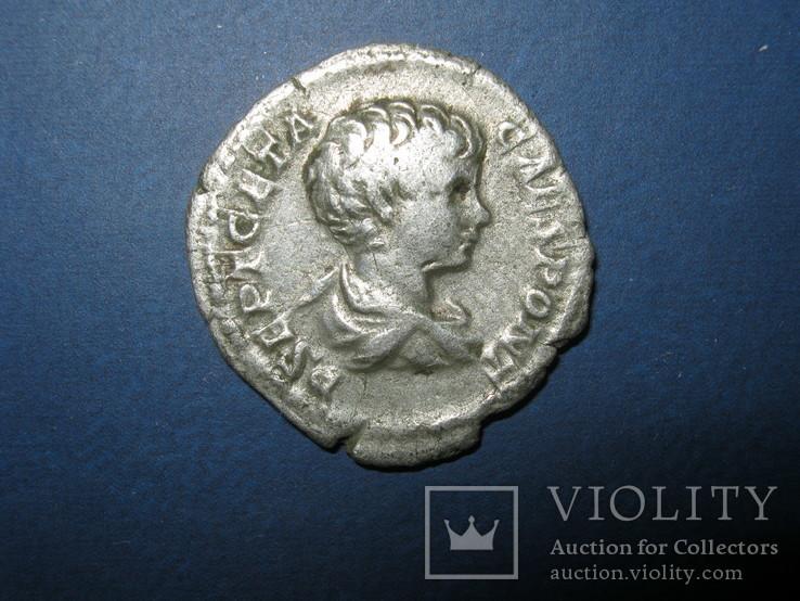 Рим, Гета ( Цезарь ), 1 денарий, 199-204 г.