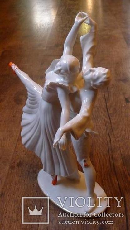 Танцующая пара. Hutschenreuter. Автор - Werner., фото №3