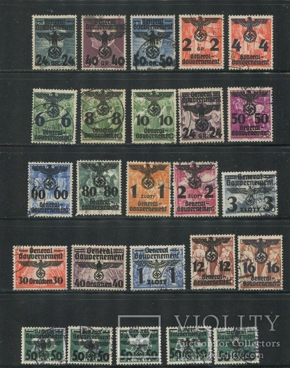1940  Рейх генералгубернаторство  орлы свастика надпечатки