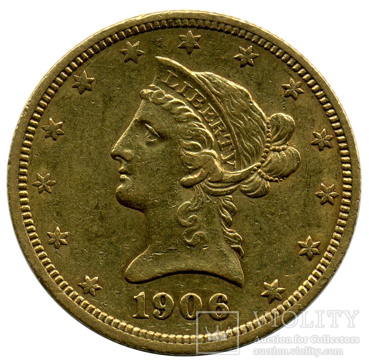 10 Долларов 1906г. США
