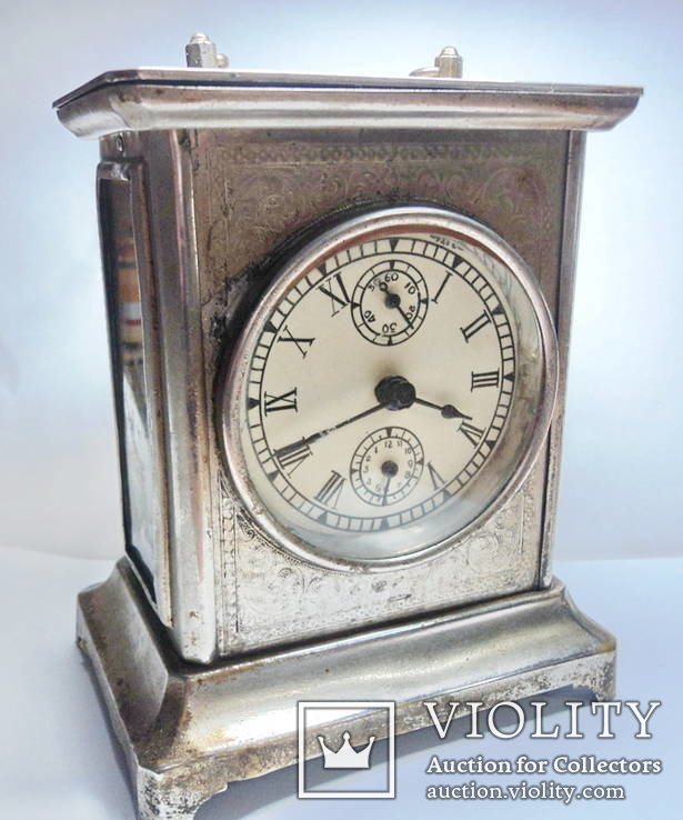 Часы каретные с будильником (Германия)
