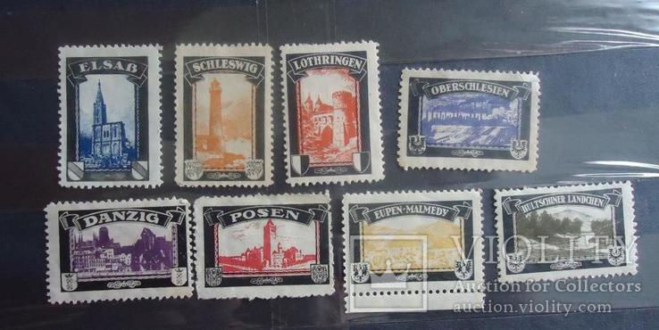 Германия утраченные колонии 1919 г   8  марок
