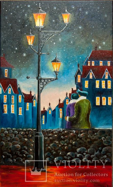 Вечерняя романтика, худ.Высочинская Т.Г., 30х50 см, масло