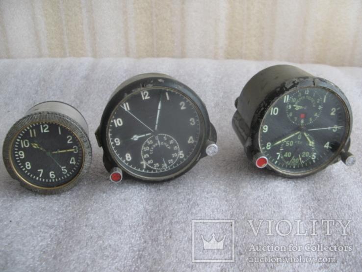 Часы приборные разные-АЧС-1, 60ЧП и еще+1- одним лотом
