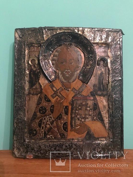 Икона двойной ковчег 18 в. серебро 84 (Ярослав 1771)