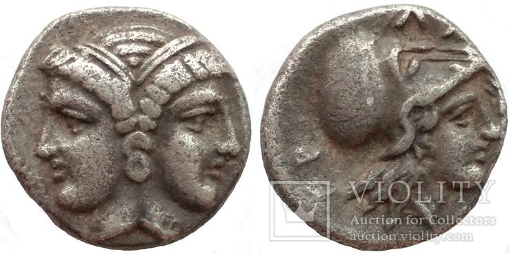 Диобол Mysia Lampsakos 390-330 гг до н.э. (75_133)