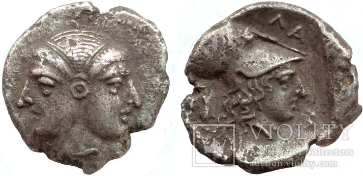 Диобол Mysia Lampsakos 390-330 гг до н.э. (75_134)