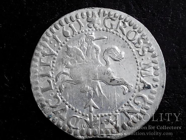 Литовский грош 1611 г.