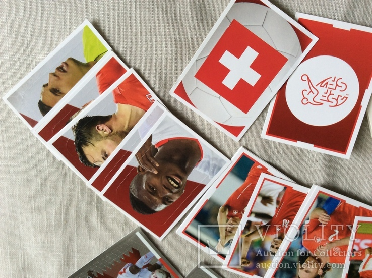 Коллекция наклеек «ЗВЕЗДЫ ФУТБОЛА»Швейцария, фото №5