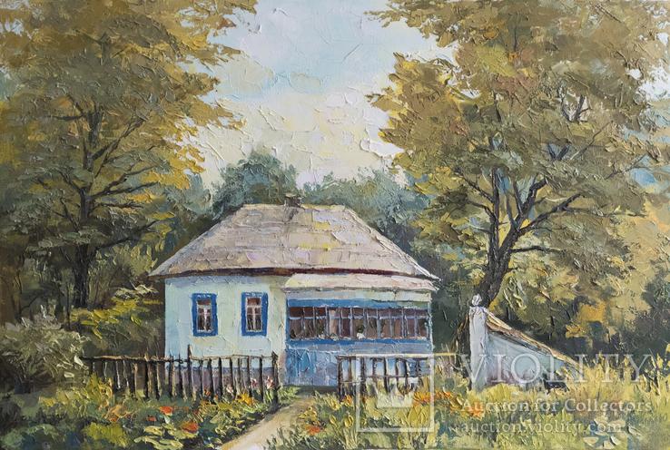 Бориспільська хата, 60х40 см, полотно олія, 2013, Ю. Смаль