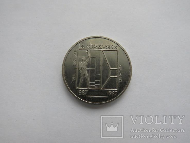 5 франков Швейцария 1987, фото №2