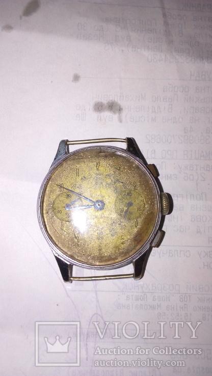 Часы хронограф FOND ACIERINOCXYDABLE 142 швейцария