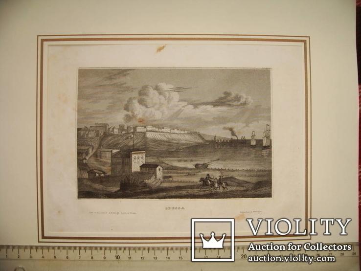 Вид Одессы/Одесса из книги 1837 года, одессика