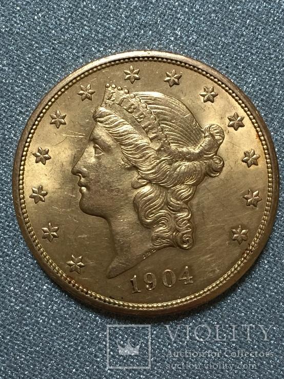 20 долларов США 1904 г.