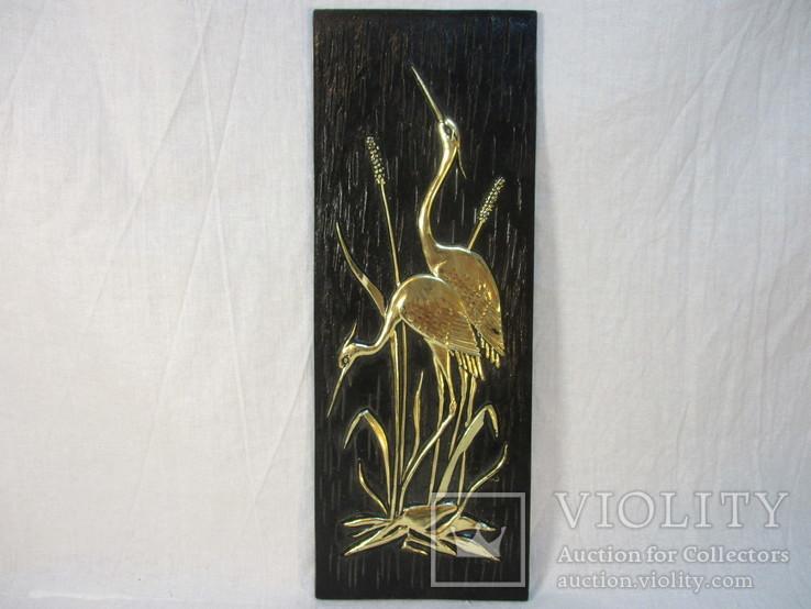 Картина Цапли пластмасса 26х9,5 см, фото №2