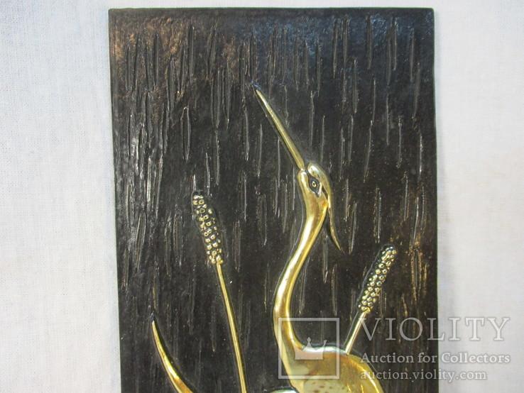 Картина Цапли пластмасса 26х9,5 см, фото №3