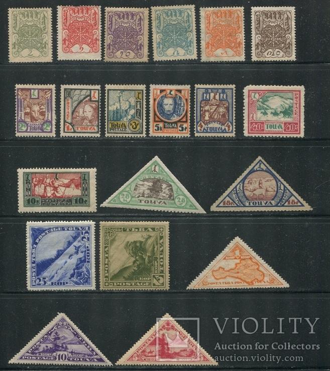 Тува коллекция чистых марок 66 шт без повторов - много фото
