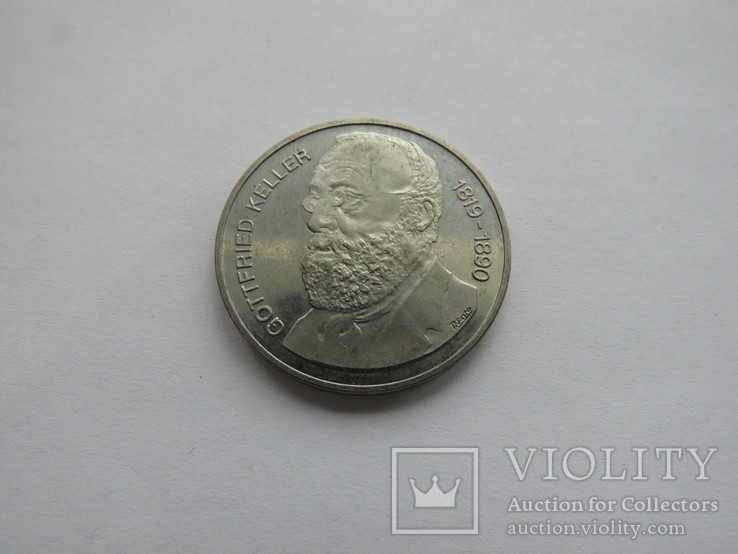 5 франков Швейцария 1990 год, фото №2
