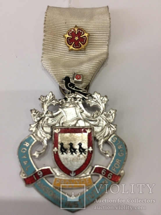 Масонская медаль знак масон 1966