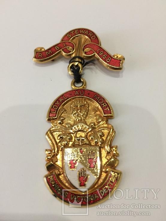 Масонская медаль знак масон 1968