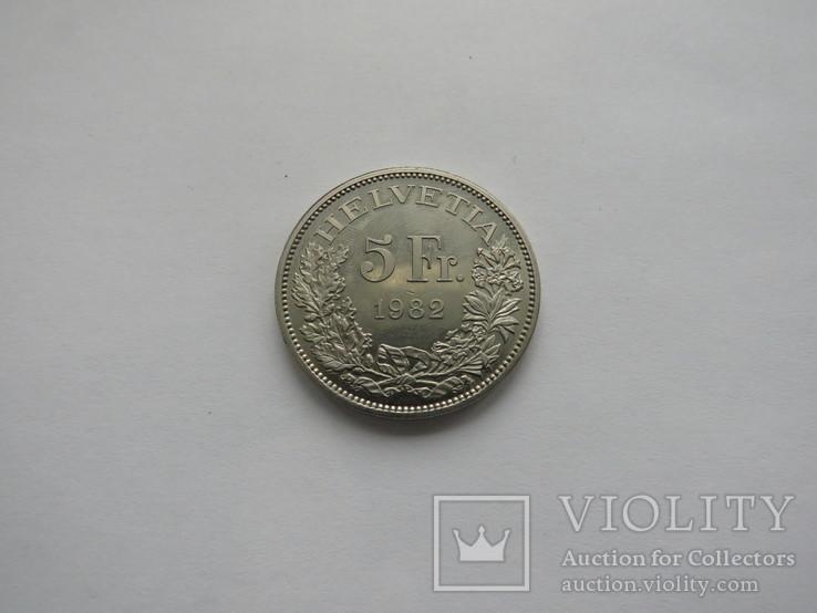 5 франков Швейцария 1982 год, фото №3