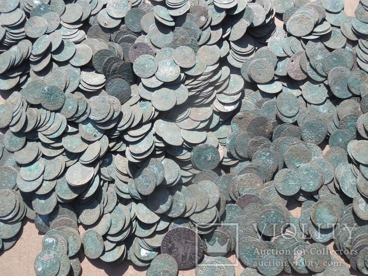 Коллекция польских грошей (приблизительно 1830 шт.)