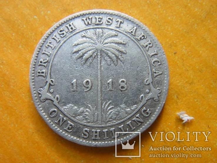 Британская Западная Африка 1 шиллинг 1918 серебро Георг V