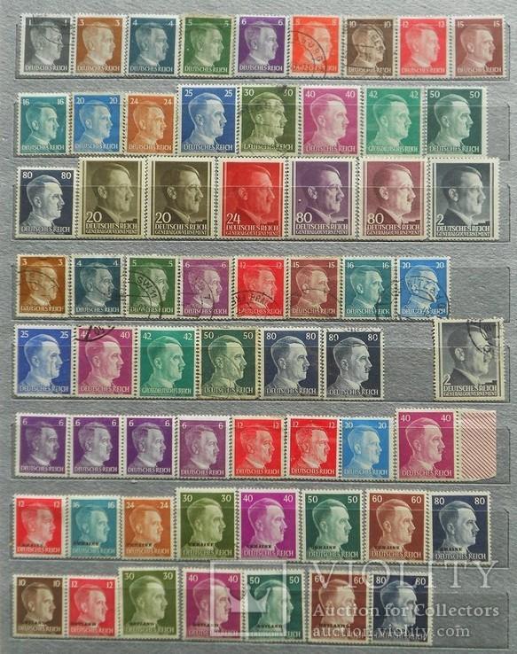 Большой альбом марок Германии(1250шт.)